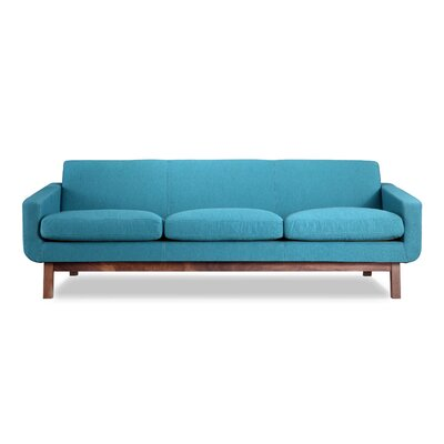 Stuart Mid Century Modern Classic Sofa Upholstery: Urban Surf, Frame Finish: Walnut