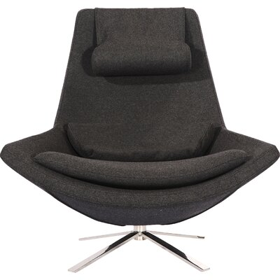 Retropolitan Swivel Lounge Chair Upholstery: Charcoal