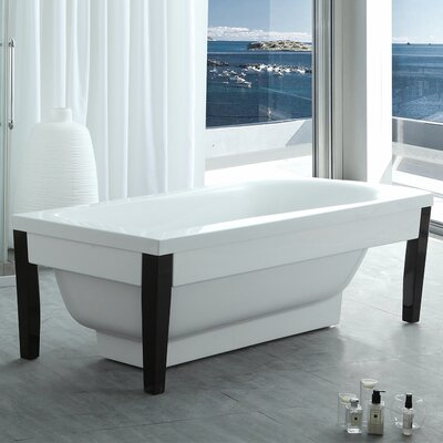 HelixBath Athenaeus Modern 71 x 31.5 Freestanding Soaking Bathtub
