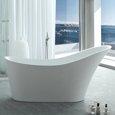 HelixBath Caracalla Slipper 67 X 28.7 Freestanding Soaking Bathtub