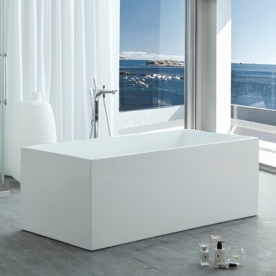 HelixBath Pompeii Modern 67 X 29.5 Freestanding Soaking Bathtub