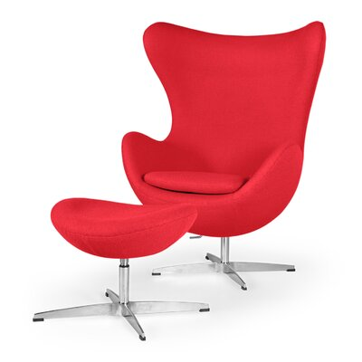 Amoeba Balloon Chair and Ottoman Upholstery: Red