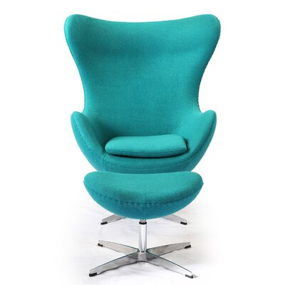Amoeba Balloon Chair and Ottoman Upholstery: Turquoise