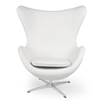 Amoeba Lounge Chair Color: Cream White