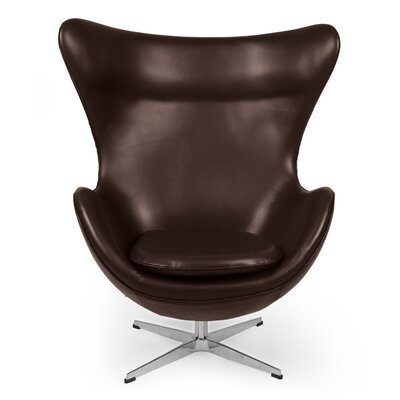 Deniela Lounge Chair Upholstery: Choco Brown