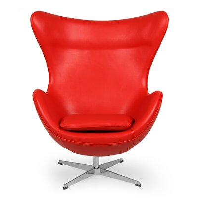 Deniela Lounge Chair Upholstery: Red