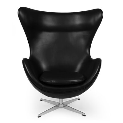 Deniela Lounge Chair Upholstery: Black