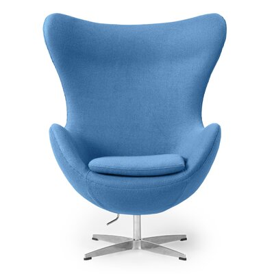 Deniela Wingback Chair Upholstery: Baby Blue