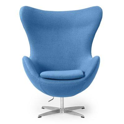 Amoeba Wingback Chair Color: Baby Blue