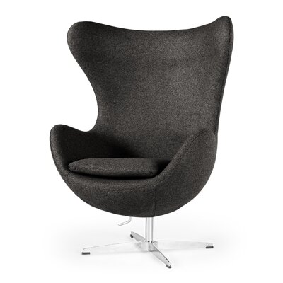 Deniela Wingback Chair Upholstery: Charcoal