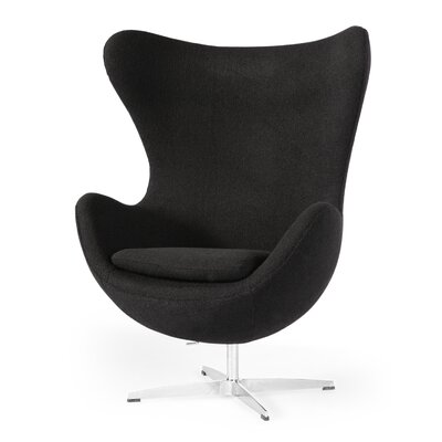 Deniela Wingback Chair Upholstery: Black