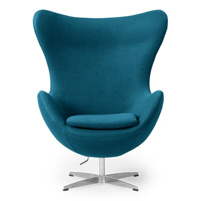 Deniela Wingback Chair Upholstery: Caribbean