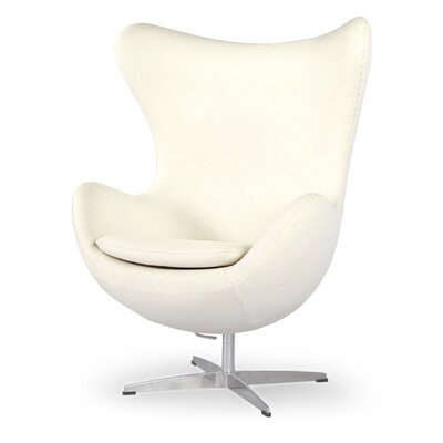 Amoeba Wingback Chair Color: White Peacoat