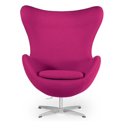 Amoeba Wingback Chair Color: Pom Fusion
