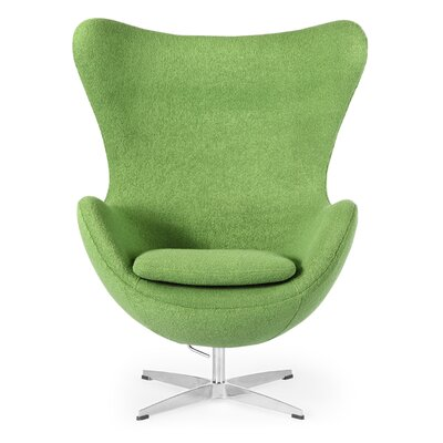 Amoeba Wingback Chair Color: Apple Green