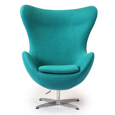 Deniela Wingback Chair Upholstery: Turquoise