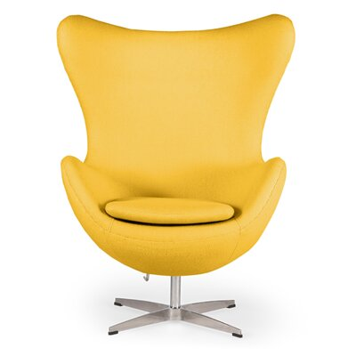 Deniela Wingback Chair Upholstery: Citron