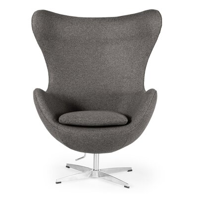 Amoeba Wingback Chair Color: Cadet Gray