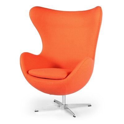 Deniela Wingback Chair Upholstery: Orange