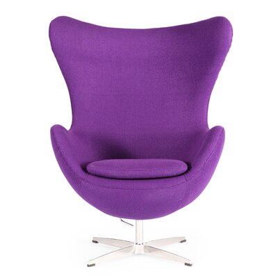 Deniela Wingback Chair Upholstery: Purple