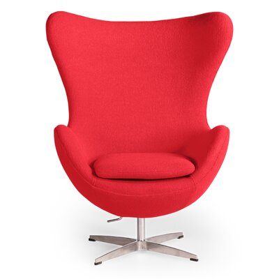 Deniela Wingback Chair Upholstery: Red