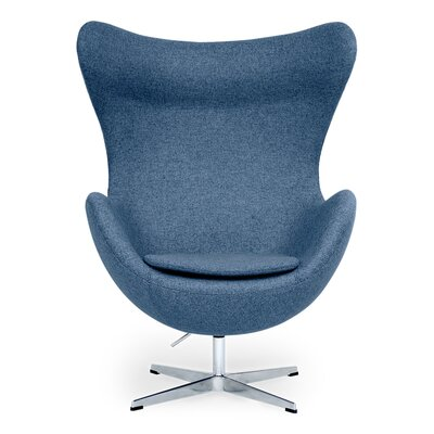 Deniela Solid Balloon Chair Upholstery: Azure