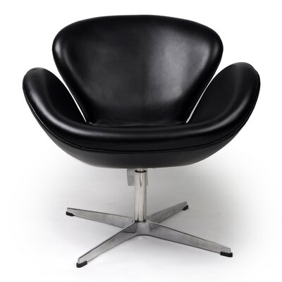 Trumpeter Lounge Chair Upholstery: Black