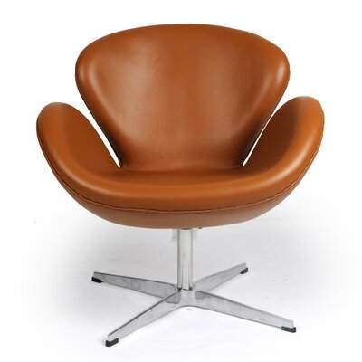 Trumpeter Lounge Chair Upholstery: Caramel