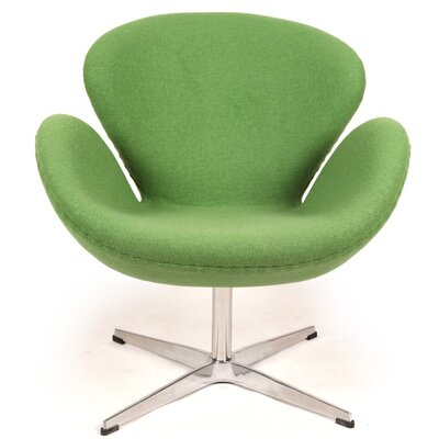 Trumpeter Lounge Chair Upholstery: Apple Green