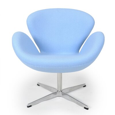 Trumpeter Lounge Chair Upholstery: Baby Blue