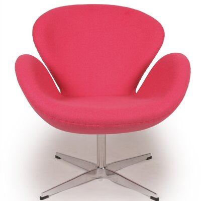 Trumpeter Lounge Chair Upholstery: Pink
