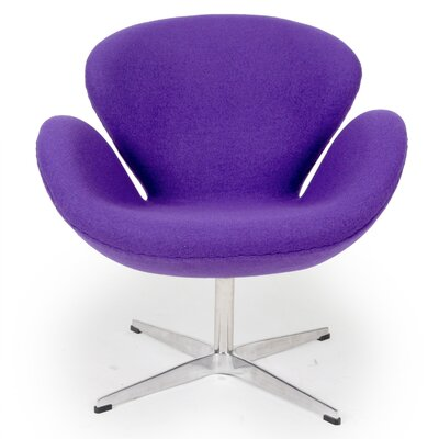 Trumpeter Lounge Chair Upholstery: Purple