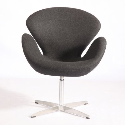 Trumpeter Lounge Chair Upholstery: Charcoal