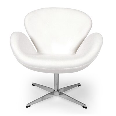 Trumpeter Lounge Chair Upholstery: White
