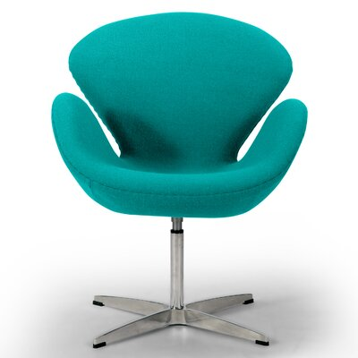 Trumpeter Lounge Chair Upholstery: Turquoise