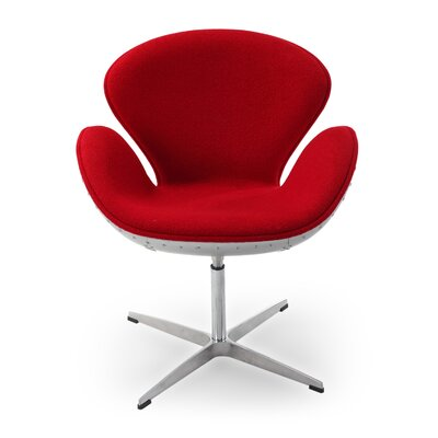 Trumpeter Lounge Chair Upholstery: Red
