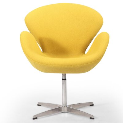 Trumpeter Lounge Chair Upholstery: Citron