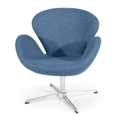 Trumpeter Lounge Chair Upholstery: Azure