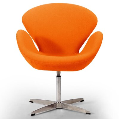 Trumpeter Lounge Chair Upholstery: Orange