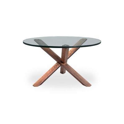 Mid-Century Modern Tripod Coffee Table Finish: Walnut