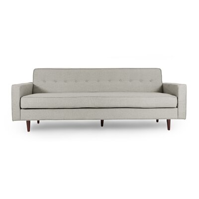 Mickey Mid Century Modern Sofa Upholstery: Heather White