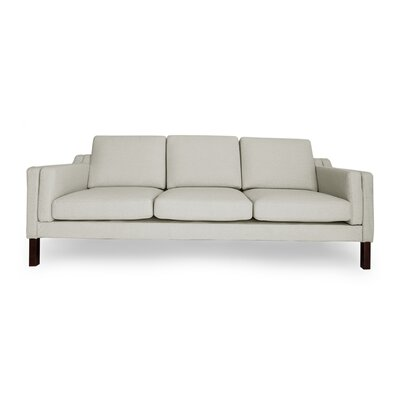 Monroe Mid Century Modern Sofa Upholstery: Heather White