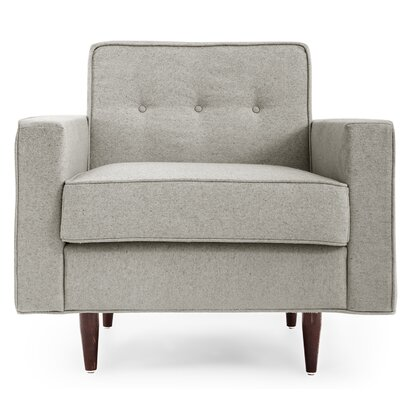 Potter Mid Century Modern Armchair Color: Heather White