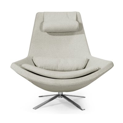 Retropolitan Swivel Lounge Chair Upholstery: Heather White
