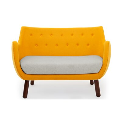 Parlor Mid Century Modern Sofa Upholstery: Sunrise/Heather White
