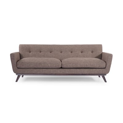 Luther Mid Century Modern Vintage Sofa with Wood Legs Upholstery: French Press