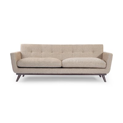 Luther Mid Century Modern Vintage Sofa with Wood Legs Upholstery: Portobello