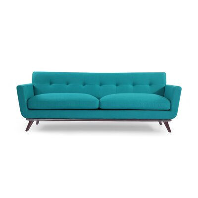 Luther Mid Century Modern Vintage Sofa Upholstery: Turquoise