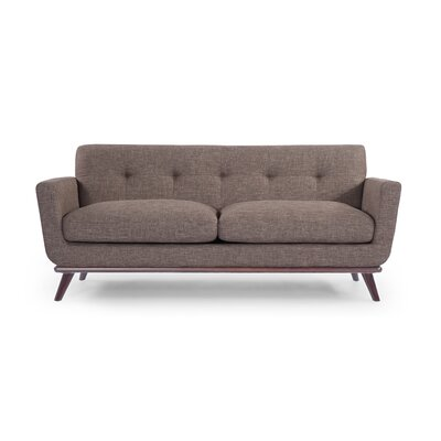 Luther Mid Century Modern Vintage Sofa with Flared Arms Upholstery: French Press