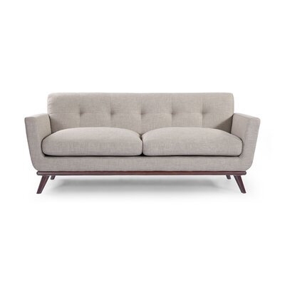 Luther Mid Century Modern Vintage Sofa with Flared Arms Upholstery: Dove Gray